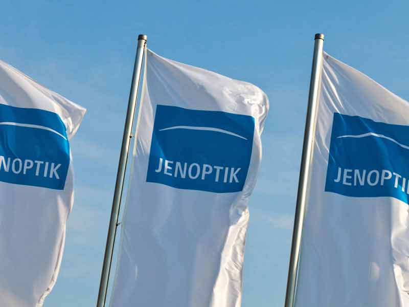 Flags with Jenoptik Logo