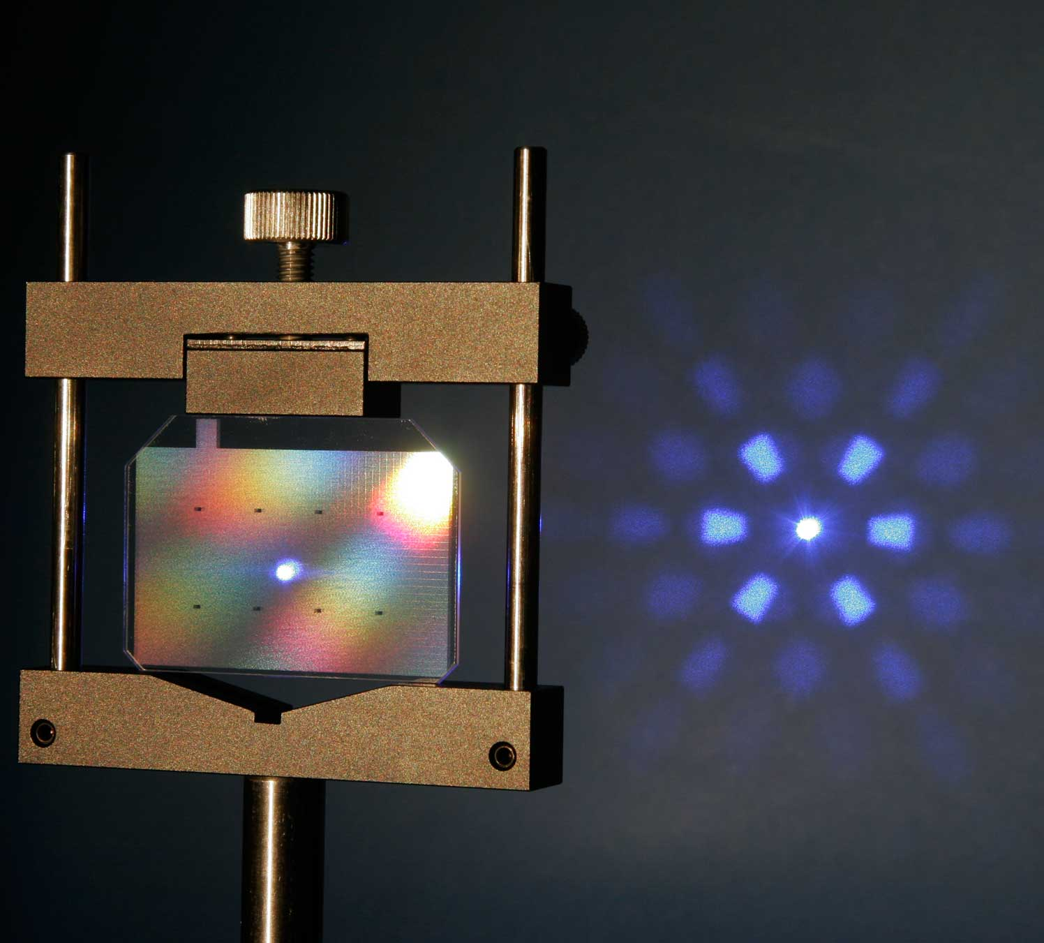 Diffractive Optical Elements (DOEs) to shape and split laser beams
